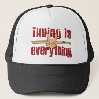 Timing is Everything Drummer Fun Trucker Hat