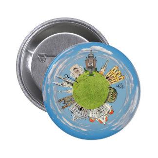 timisoara city romania tiny little planet landmark 2 inch round button