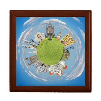 timisoara city romania tiny little planet landmark gift box