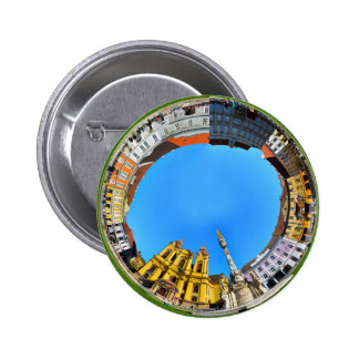 timisoara city romania union square panorama piata 2 inch round button