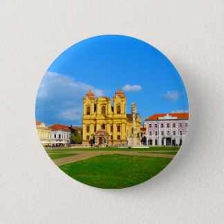 Timisoara dome landmark architecture travel touris 2 inch round button