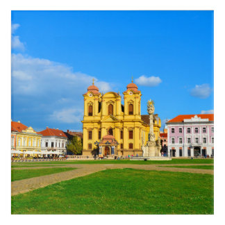 Timisoara dome landmark architecture travel touris acrylic wall art
