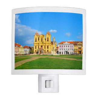 Timisoara dome landmark architecture travel touris nite lights