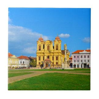 Timisoara dome landmark architecture travel touris tile
