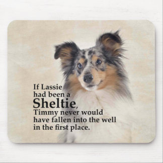 Timmy's Blue Merle Sheltie Mousepad