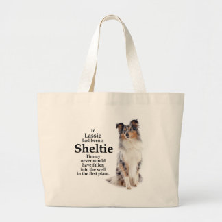 Timmy's Blue Merle Sheltie Tote Bag