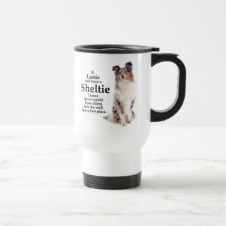 Timmy's Blue Merle Sheltie Travel Mug