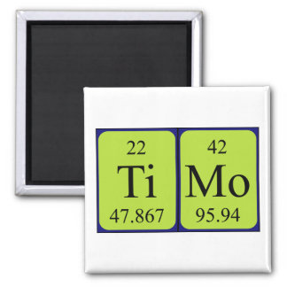 Timo periodic table name magnet