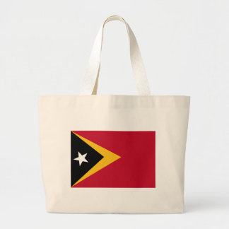 Timor leste flag large tote bag