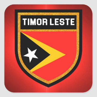 Timor Leste Flag Square Sticker