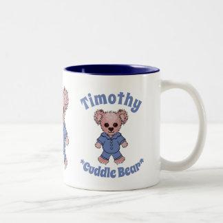 Timothy Cuddle Bear Custom Children's Book Two-Tone Coffee Mug