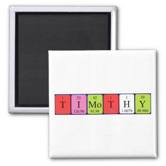 Timothy periodic table name magnet