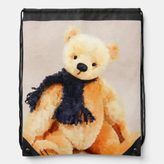 Timothy Teddy Bear Cinch Bag