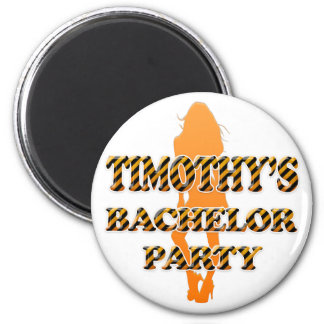 Timothy's Bachelor Party 2 Inch Round Magnet