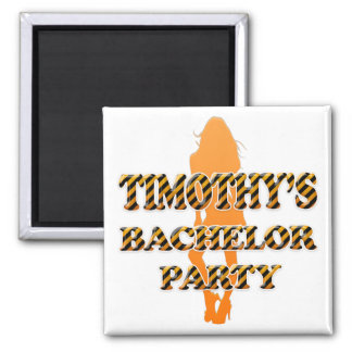Timothy's Bachelor Party Square Magnet