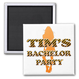 Tim's Bachelor Party Square Magnet