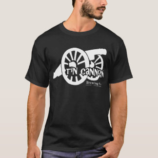 Tin Cannon - Large Cannon Logo on Front T-Shirt