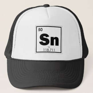 Tin chemical element symbol chemistry formula geek trucker hat