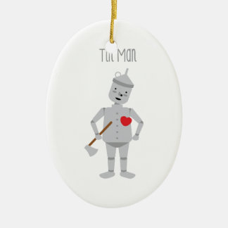 Tin Man Ceramic Ornament