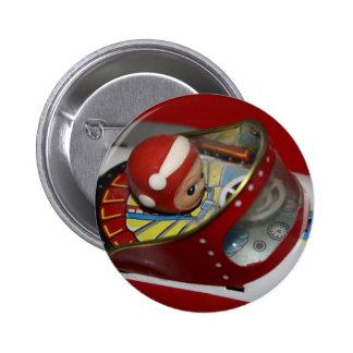 Tin Toy Space/Rocket Ship Button Badge