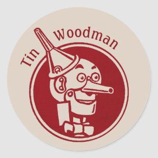 Tin Woodman (Tin Man) Face CC0897 Wonderful Wizard Classic Round Sticker
