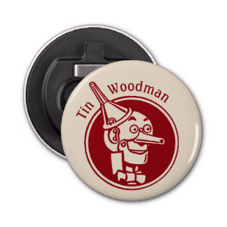 Tin Woodman (Tin Man) Face CC0899 Wonderful Wizard Button Bottle Opener
