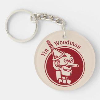 Tin Woodman (Tin Man) Face CC0900 Wonderful Wizard Single-Sided Round Acrylic Keychain