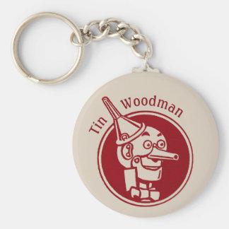 Tin Woodman (Tin Man) Face CC0901 Wonderful Wizard Basic Round Button Keychain