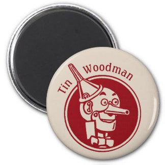 Tin Woodman (Tin Man) Face CC0902 Wonderful Wizard 2 Inch Round Magnet