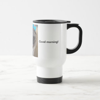 Tina is a morning person.... travel mug