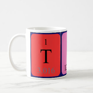 Tina periodic table name mug