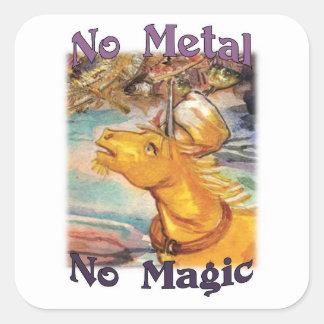 Tinam No Metal No Magic Stickers