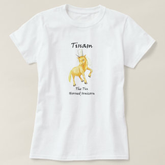 Tinam The Tin-Horned Unicorn Tee-Shirt T-Shirt