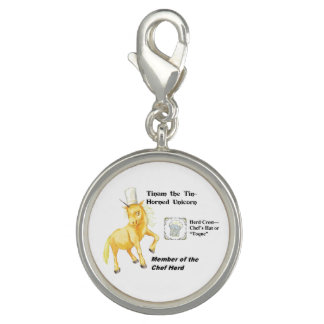 Tinam with Herd Info - Round Silver Plated Charm