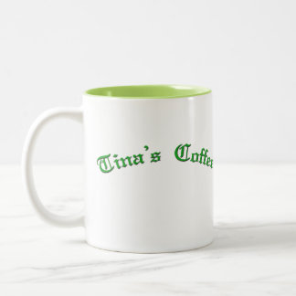 Tinas Coffee Two-Tone Coffee Mug