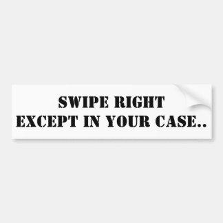 Tinder Sticker, Swipe Right Bumper Sticker