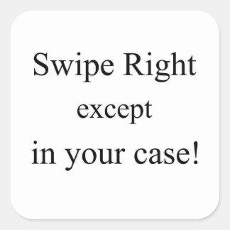Tinder Sticker, Swipe Right Square Sticker