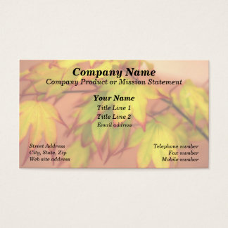 """Tinged with Red"" (Maple Leaves) Business Card"