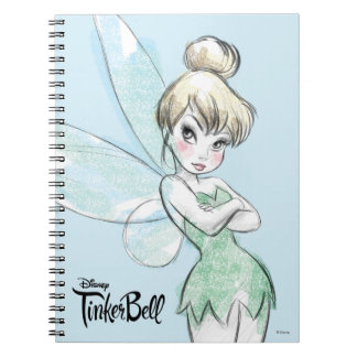 Tinker Bell | Arms Crossed Pastel Spiral Notebook