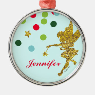 Tinker Bell |Christmas Sparkle Add Your Name Metal Ornament