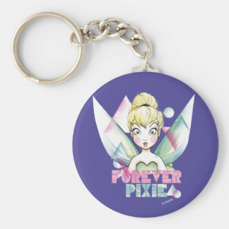 Tinker Bell Forever Pixie Basic Round Button Keychain