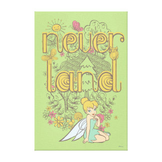 Tinker Bell in Neverland Forest Canvas Print
