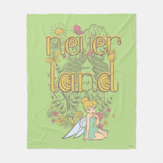 Tinker Bell in Neverland Forest Fleece Blanket