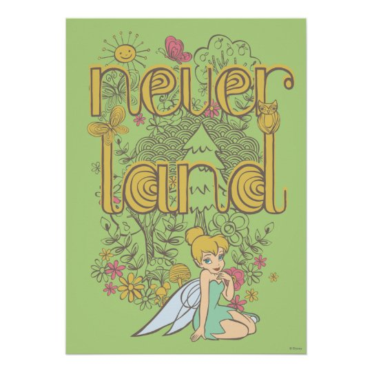 Tinker Bell in Neverland Forest Poster