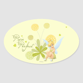 Tinker Bell  Pose 27 Oval Sticker