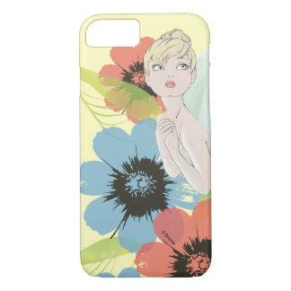 Tinker Bell Sketch With Cosmos Flowers iPhone 7 Case