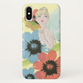 Tinker Bell Sketch With Cosmos Flowers iPhone X Case