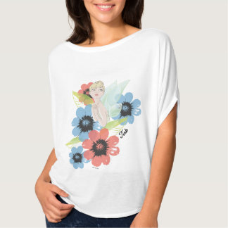 Tinker Bell Sketch With Cosmos Flowers T-Shirt