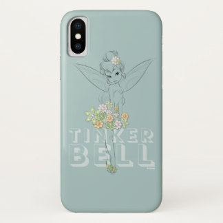 Tinker Bell Sketch With Jewel Flowers Case-Mate iPhone Case