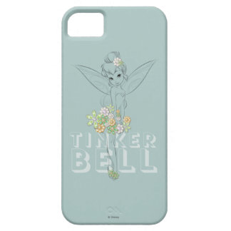 Tinker Bell Sketch With Jewel Flowers iPhone 5 Case